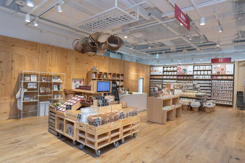 MUJI無印良品的南紡門市,首度導入「聯連市」概念,設置有開放式廚房。圖/MUJI無印良品提供