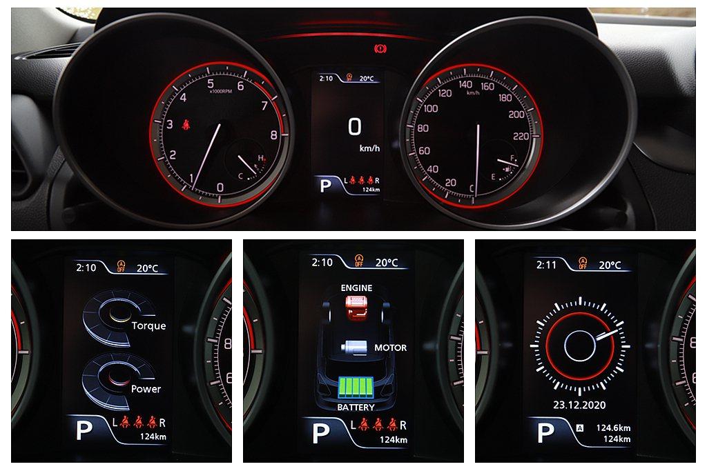 儀表中央4.2吋彩色LCD整合式多功能行車資訊顯示螢幕,不僅可顯示多種不同資訊,...
