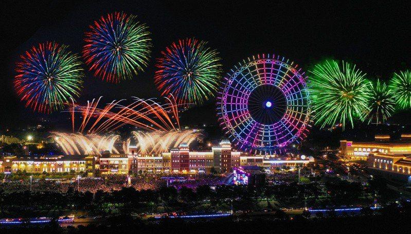 睽違3年,麗寶夜空將綻放6000發煙火。圖/麗寶樂園提供