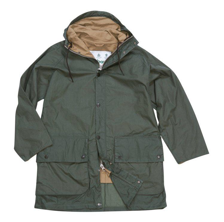 Barbour WAX HIKING連帽油布外套17,900元。圖/Barbou...