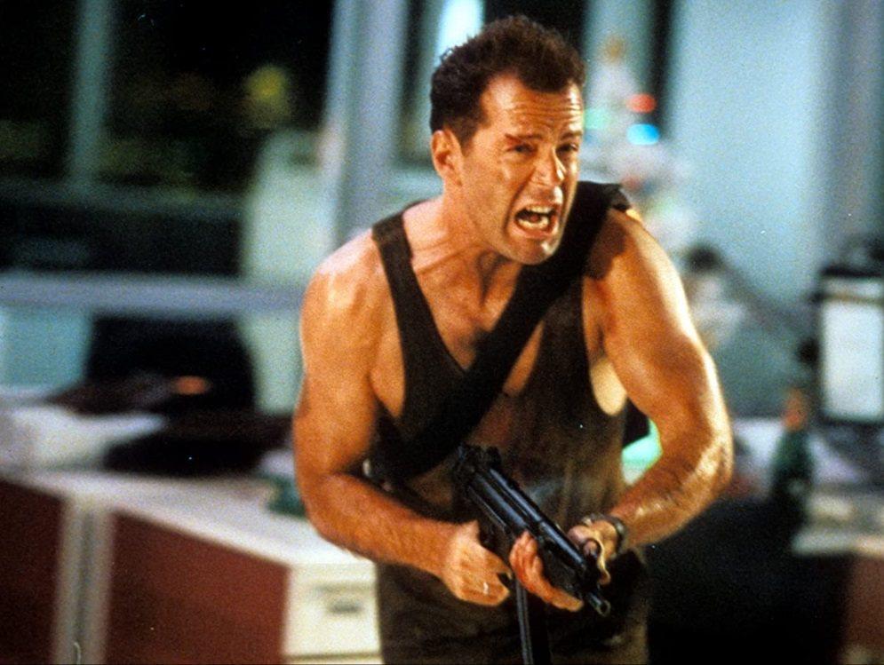 「終極警探」固然是暴力動作片,卻也有不少老美觀眾視為經典耶誕電影。圖/摘自imd...