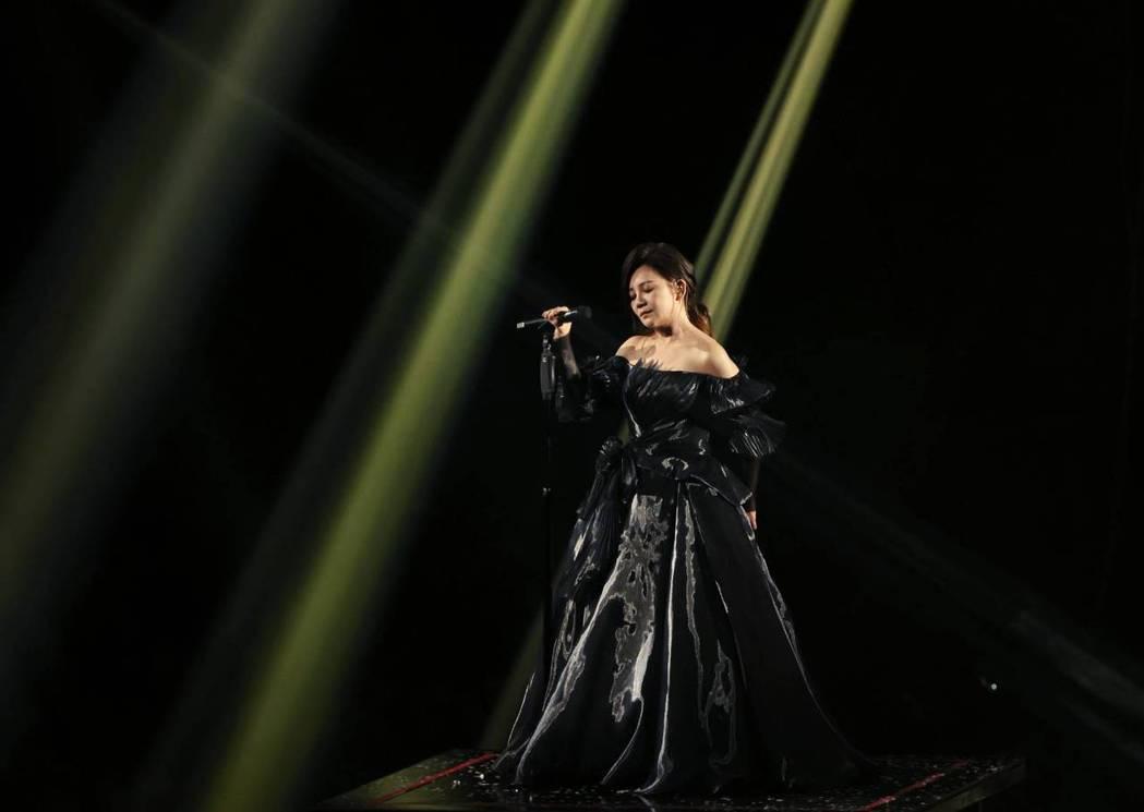 梁靜茹今晚於台北小巨蛋開唱,首開四面台。記者曾原信/攝影