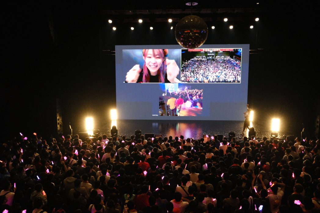 LiSA在日本與台灣粉絲連線。圖/好玩國際文化提供