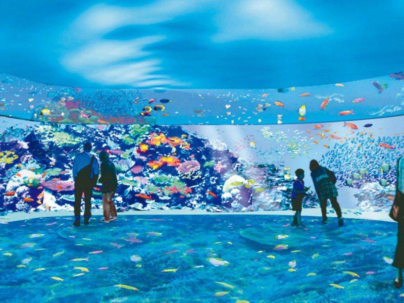 因應來勢洶洶的電商挑戰,百貨商場也紛紛打出「體驗經濟」。圖為華泰名品城引入Xpark水族館。圖/摘自Xpark官網