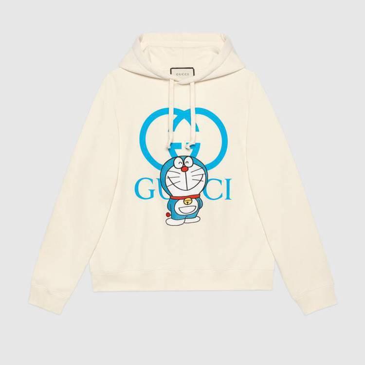 Doraemon X Gucci系列帽T。圖/摘自官網