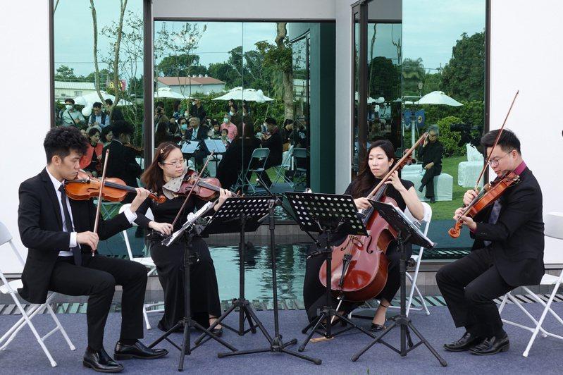 「恩典四重奏」樂團受邀演出。圖/業者提供