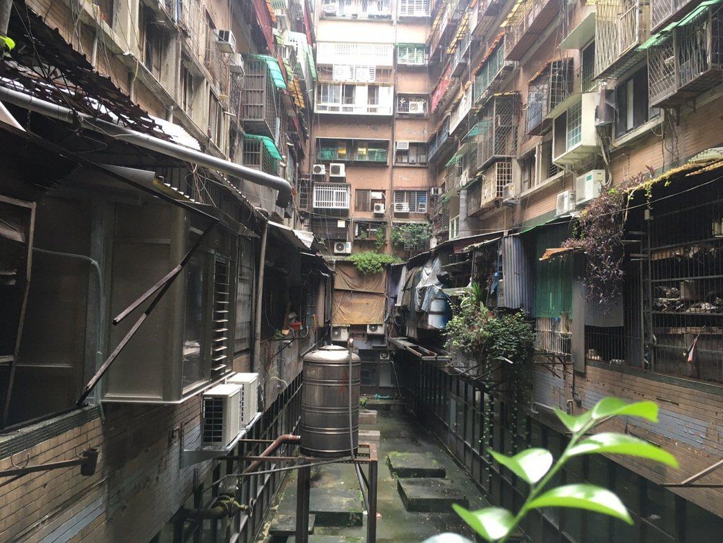 大安區信維整宅因年久失修成為「都市之瘤」。記者胡瑞玲/攝影