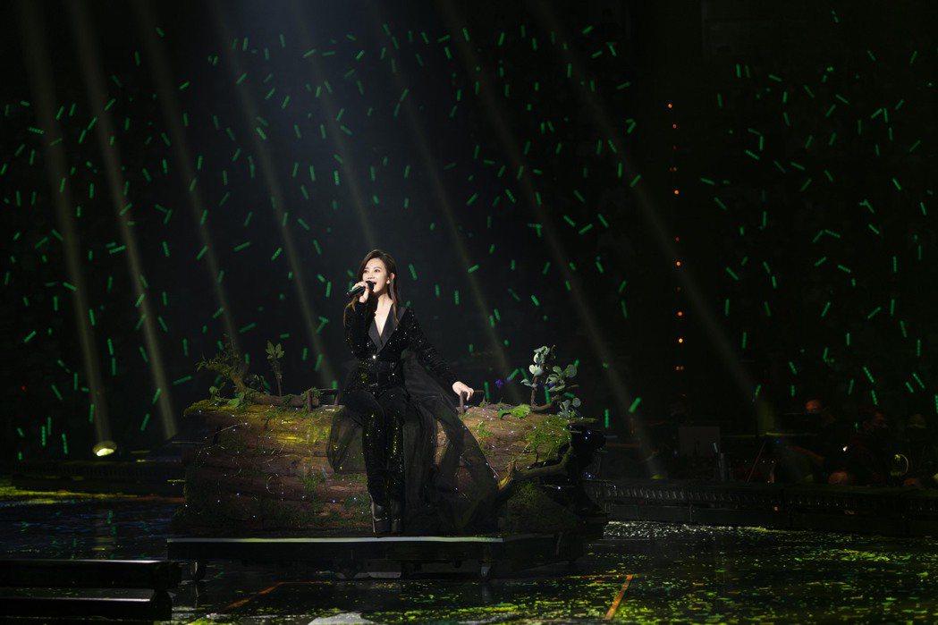 梁靜茹在小巨蛋連辦2場「202020當我們談論愛情」世界巡演。圖/超級圓頂提供