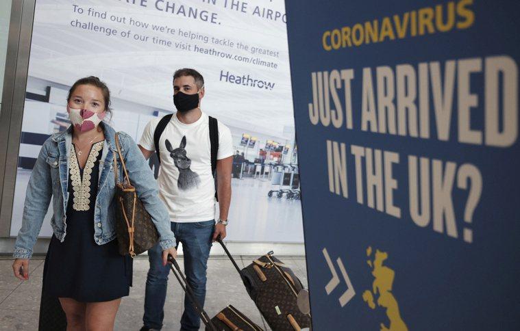 英國變種病毒使各國拉高警戒,對英國旅客施行禁令。 美聯社