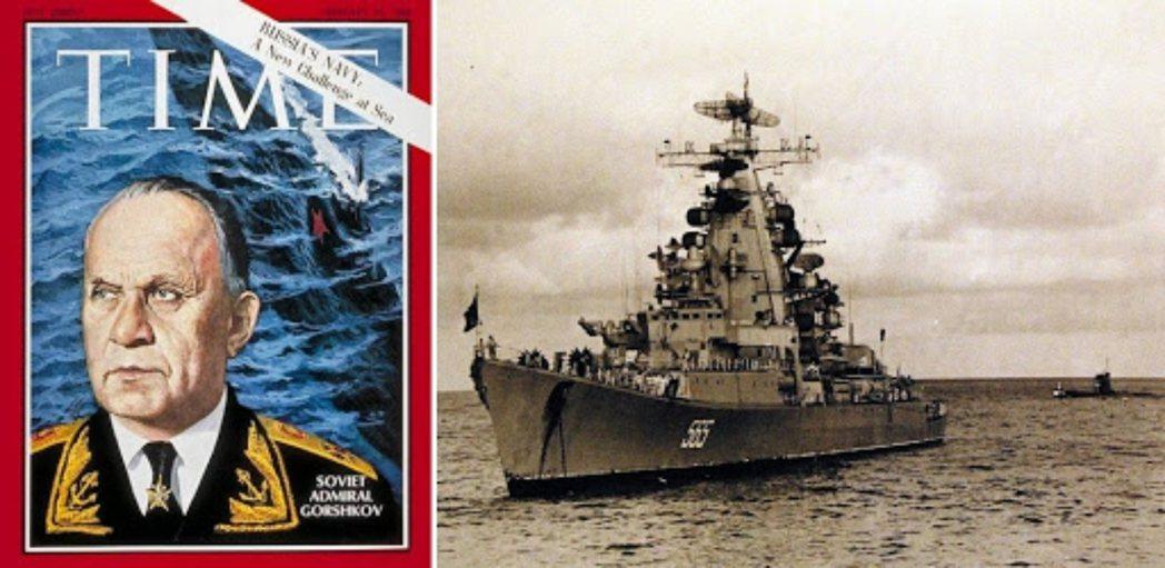時代雜誌,與蘇聯的克里斯塔I級巡洋艦「符拉迪沃斯托克號」。 圖/維基共享