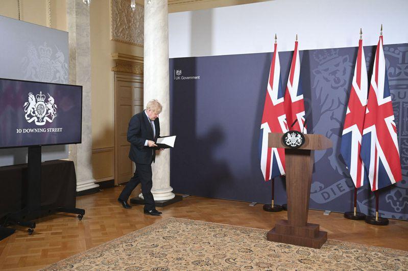 英國首相強生24日在唐寧街10號宣布與歐盟敲定脫歐貿協。 美聯社