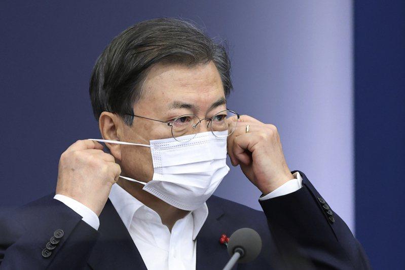 韓國總統文在寅。圖/美聯社資料照