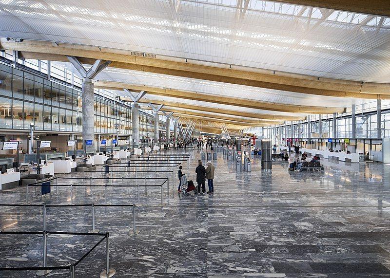 北歐許多機場已經啟動無接觸登機 / 來源:wikimedia