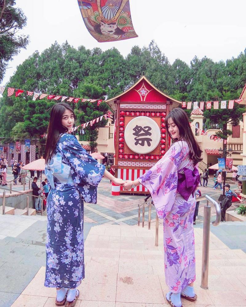 ▲全台櫻花季賞櫻景點推薦-九族文化村櫻花祭。(圖/judy_qqq, Instagram)