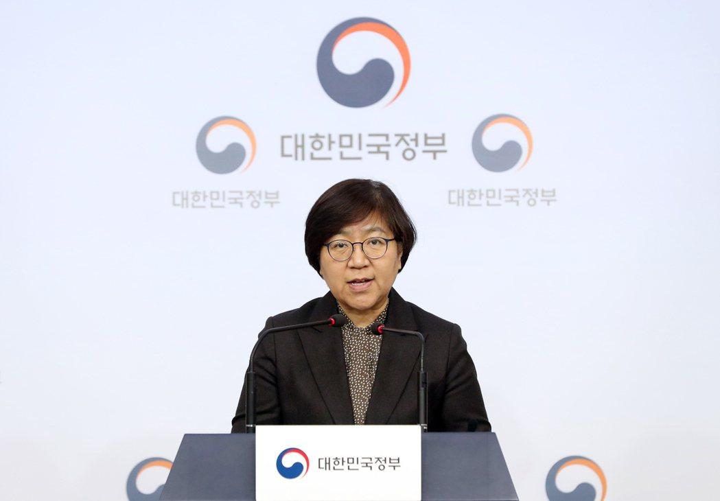 南韓中央防疫對策本部本部長鄭銀敬。(歐新社)