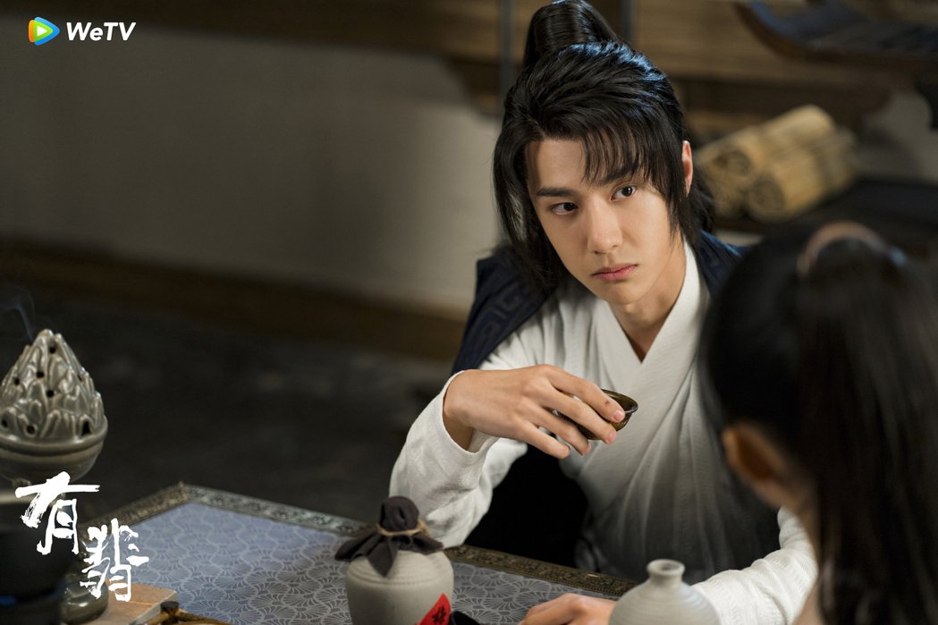 王一博在「有翡」中受封完美男友。圖/WeTV海外站提供
