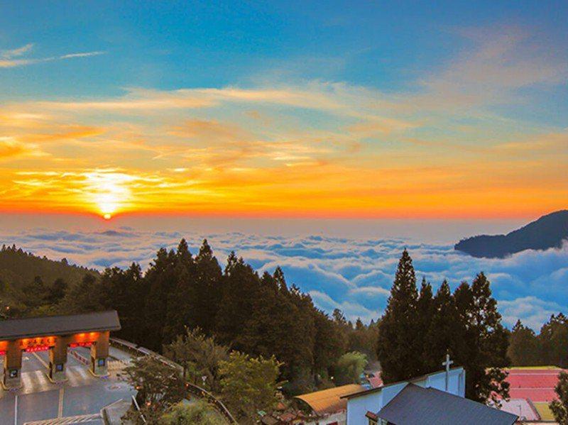 阿里山日出與雲海是大賣點。圖/取自阿里山國家風景區管理處官網