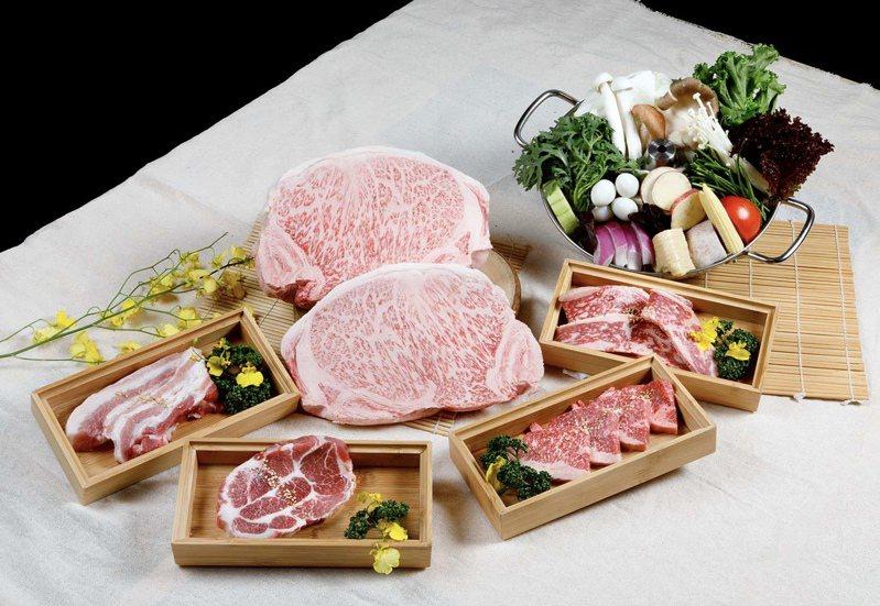「本格和牛燒肉放題」主打M9+澳洲和牛霜降及和牛雪花吃到飽。圖/業者提供