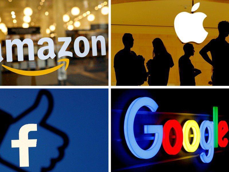蘋果、亞馬遜、臉書及谷歌等靠網路賺錢的大型科技業者,在這波疫情中成為大贏家。路透