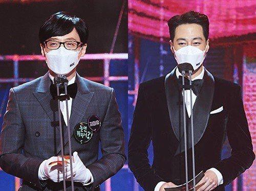 趙寅成發表大賞得主是劉在錫。圖/擷自MBC