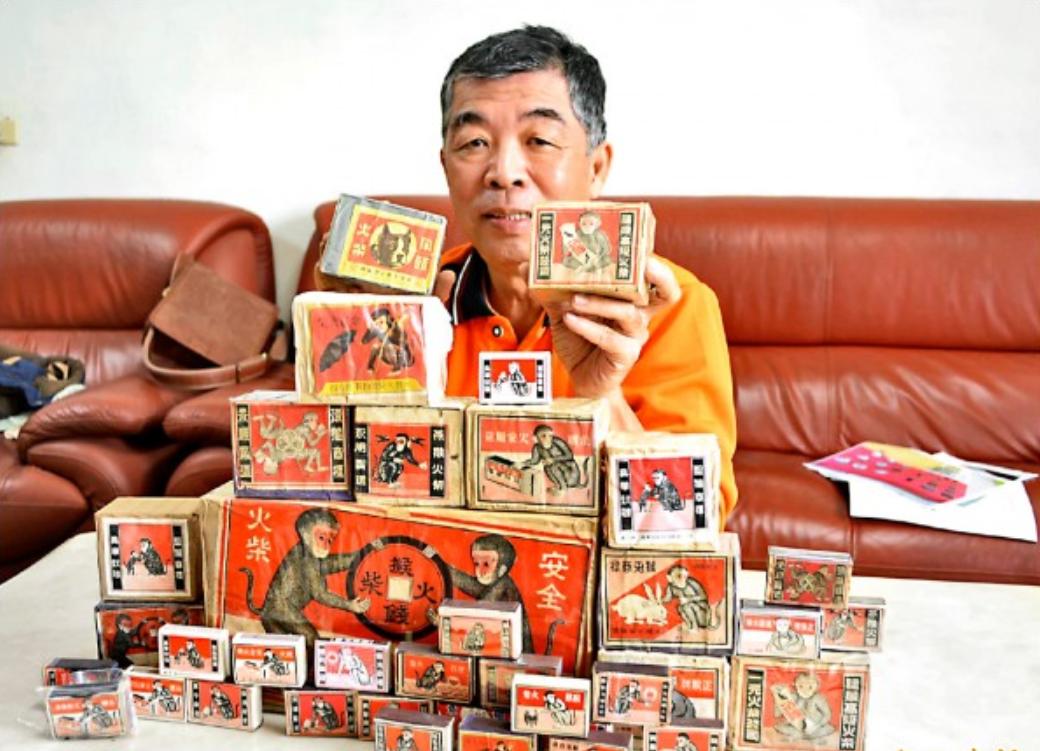 彰化縣花壇鄉文史工作者蔣敏全蒐藏超過8萬個火柴盒,希望將來成立火柴盒博物館。 圖...