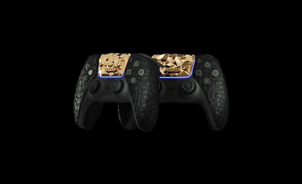 DualSense 手把也融入了黃金配件。(不曉得會不會變得太重)