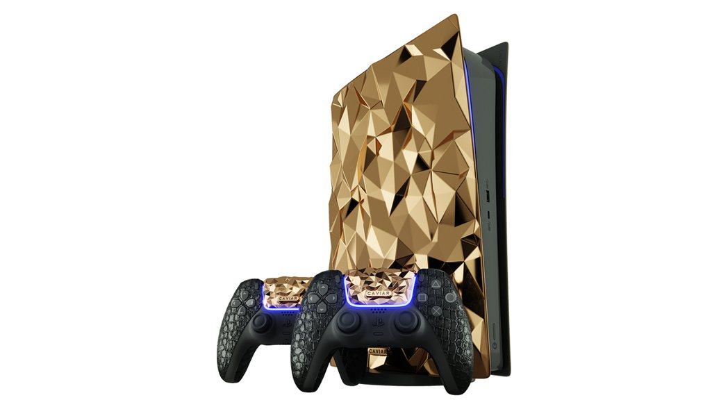 Caviar 黃金 PS5 展示圖|圖源:Caviar Royal Gift