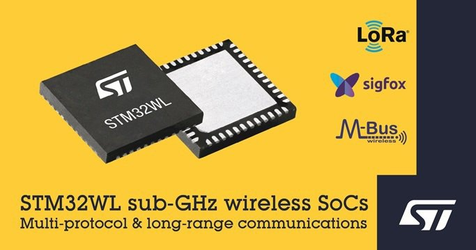 意法半導體推針對大眾市場的 STM32WL LoRa無線系統晶片系列產品。 意法...