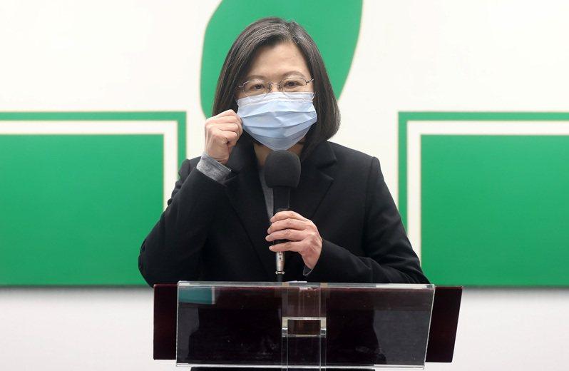 總統兼民進黨主席蔡英文今天說,政府過去4年為經濟調整好體質,台灣經濟「轉大人」已經指日可待。 圖/中央社