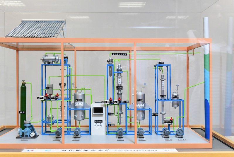 工研院研發的「煙道氣CO2捕獲與應用創新製程技術」,有效解決二氧化碳捕獲成本過高的缺點,榮獲今年全球百大科技研發獎的入圍肯定。