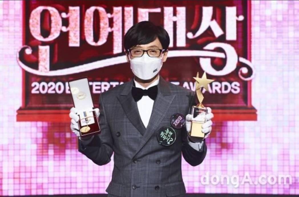 劉在錫獲得大賞肯定。圖/摘自donA.com