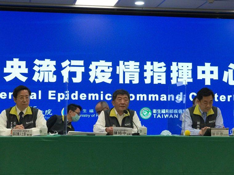 指揮官陳時中表示,國光公司從一期臨床試驗結果,無法決定最適劑量,建議重新執行劑量...