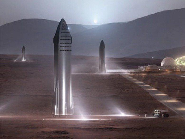 SpaceX公司執行長馬斯克想要殖民火星,一度提案在火星南北極引爆核武,利用溫室效應拉高火星的氣溫與氣壓,近日改建議先蓋「玻璃巨蛋」的基地,讓殖民先鋒等候火星最終地球化到足供生命生存。畫面翻攝:Autoevolution.com