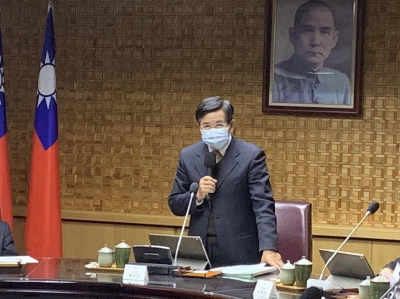 教育部今舉行今年最後一場部務會報,教育部長潘文忠致詞。記者趙宥寧/攝影