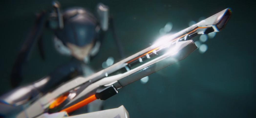 展示影片中的主角還能變換武器型態。