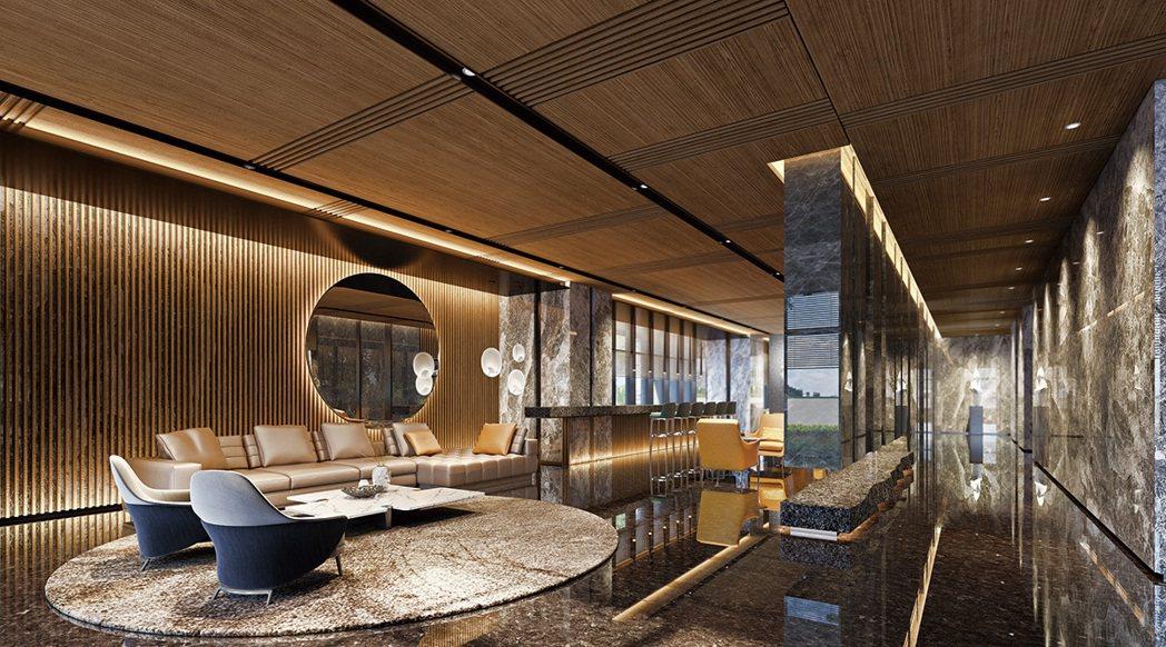 「遠雄晴川」交誼廳3D示意圖。 圖/遠雄晴川提供
