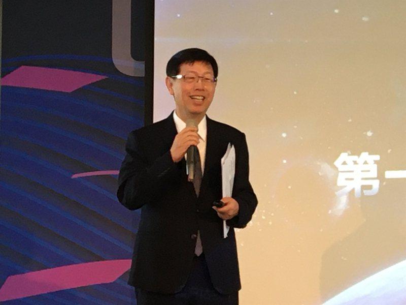 鴻海研究院院長、鴻海董事長劉揚偉。中央社