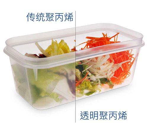 新一代添加了NX8000透明劑的聚丙烯食品容器產品。 美利肯/提供