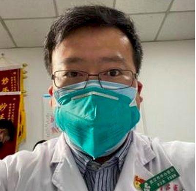 中國大陸最早公開武漢肺炎疫情的「吹哨人」李文亮醫師。新浪微博照片