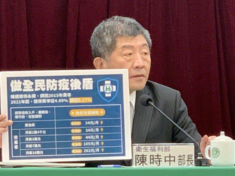 衛生福利部部長陳時中。記者陳雨鑫/攝影