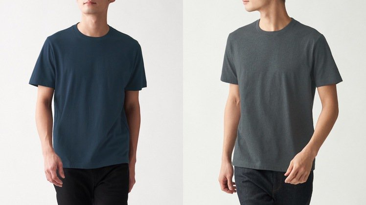 第9名,男有機棉天竺圓領短袖T恤,350元。