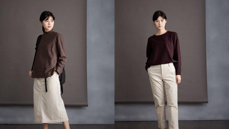 第6名,女有機棉法蘭絨套衫,890元。圖/無印良品提供