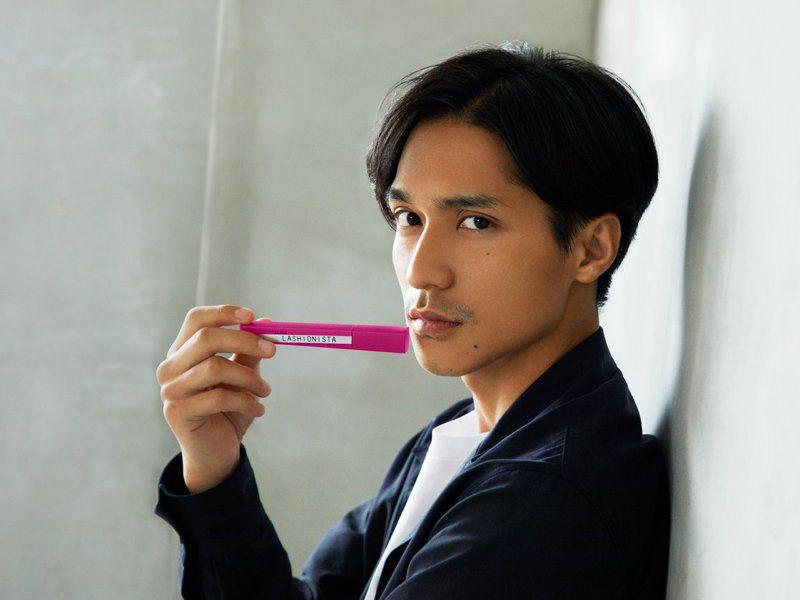 錦戶亮擔任美國化妝品牌的日本代言人。圖/MAYBELLINE NEW YORK提供