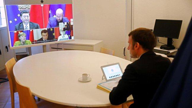 中國和歐盟國家領導人就中歐投資協定召開視訊峰會。 路透社