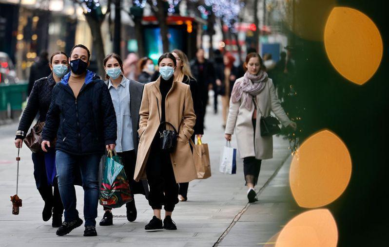 英國變種病毒更易傳播。法新社