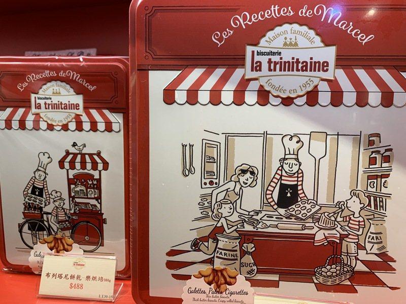 可愛小廚師圖案的樂烘焙系列,搭配紅色包裝,成為年節送禮熱門選擇。圖/仝澤蓉攝影