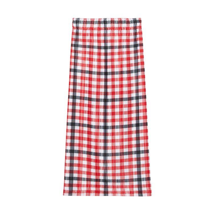BURBERRY新春系列格紋皺褶裙55,000元。圖/BURBERRY提供