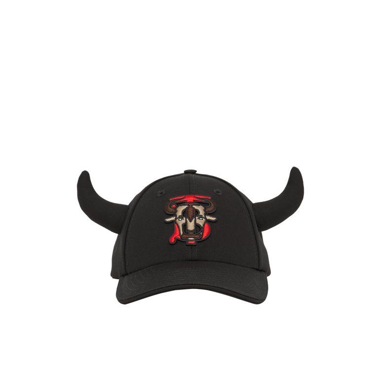 BURBERRY新春系列花押字圖案棉質斜紋布棒球帽22,900元。圖/BURBE...