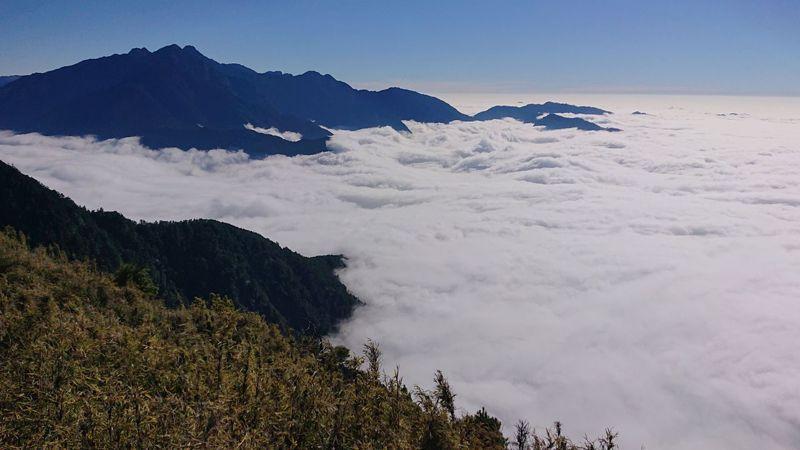 不走著名風景區,有登山愛好者組團選擇一日來回的郡大山,以登頂百岳來慶祝新年元旦。圖/讀者提供