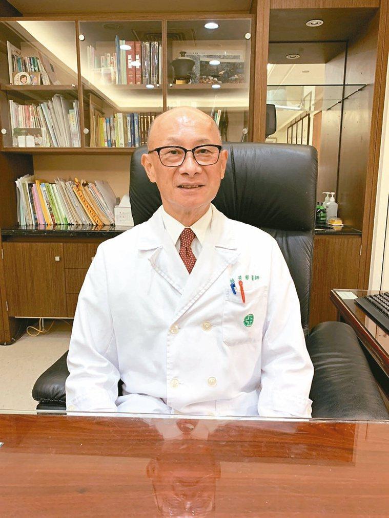 林芳郁侃侃而談治理醫院理念,表示醫德是他最在意的事情。記者張睿廷/攝影